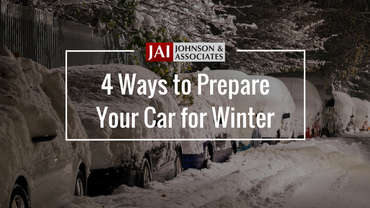 blog cover | 4 ways to prepare your car for winter | cars covered in snow